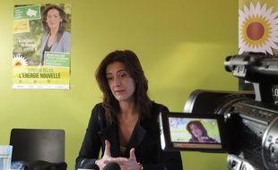 Strasbourg, le 8 décembre. - Sandrine Bélier, candidate EELV, appelle à voter Philippe Richert (Les Républicains) au second tour des élections régionales en Alsace-Champagne-Ardenne-Lorraine.