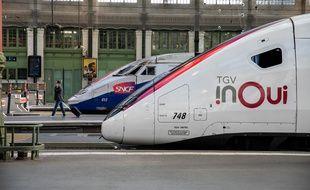 Deux TGV en gare de Lyon à Paris (image d'illustration).