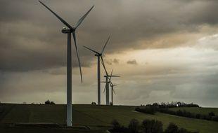 Un parc éolien de Dehlingen dans le Bas-Rhin. L'hexagone compte désormais 7.950 éoliennes réparties sur 1.380 parcs