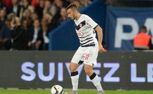 Milan Gajic, le joueur des Girondins, lors du match contre le PSG, joué le 11 septembre 2015.