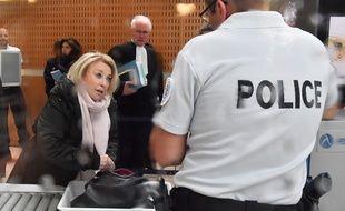 Maryse Joissains lors de son arrivée au tribunal