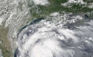L'ouragan Harvey vu du ciel le 24 août 2017.