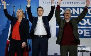 Marine Le Pen, Jordan Bardella, Hervé Juvin.