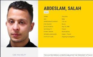 Capture d'une photo de Salah Abdeslam.
