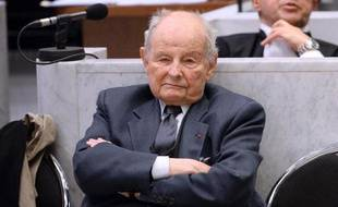 Jacques Servier lors de la reprise du procès du Mediator, le 21 mai 2013 au Palais de Justice de Nanterre