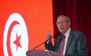 Beji Caid Essebsi, l'ancien Premier ministre et dirigeant du parti séculier Nidaa Tounès le 2 octobre 2014 à Tunis