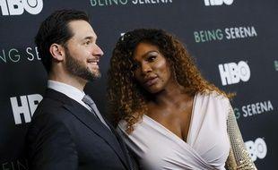 La joueuse de tennis Serena Williams et son mari Alexis Ohanian à New York.
