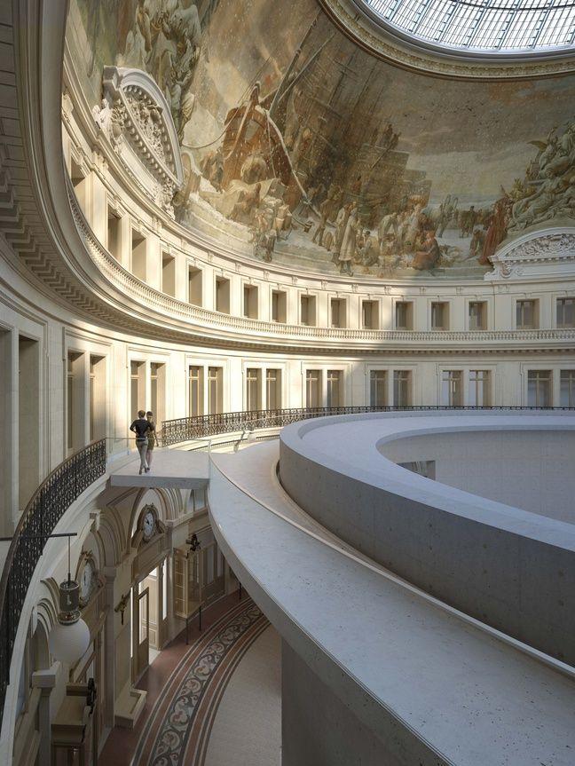 Image de synthèse du projet architectural de Tadao Ando pour la Bourse de Commerce à Paris