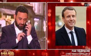 L'animateur Cyril Hanouna a appelé Emmanuel Macron pour lui souhaite un joyeux anniversaire, le 20 décembre 2017.