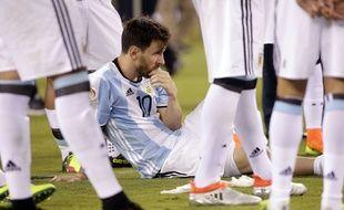 Lionel Messi après la défaite contre le Chili