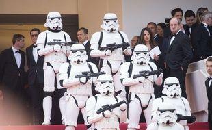 La montée des marches de Star Wars - Solo à Cannes