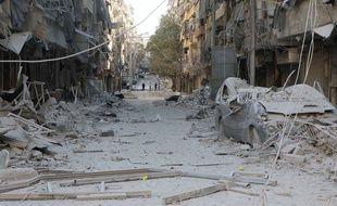 Une image d'Alep sous les décombres prise le 24 septembre 2016