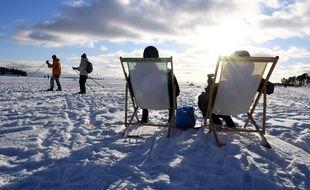Détente glacée à Helsinki, le 14 février 2021.