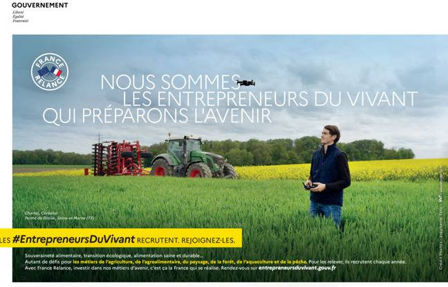 Les ministères de l'agriculture et de la pêche lancent ce jeudi 1er juillet une grande campagne de communication incitant à opter pour les métiers du vivant, dont celui d'agriculteurs.