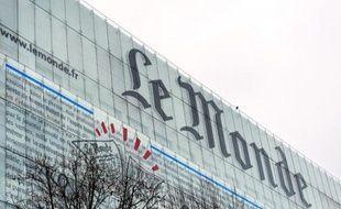 """Le siège journal """"Le Monde"""" à Paris, le 7 mars 2013"""