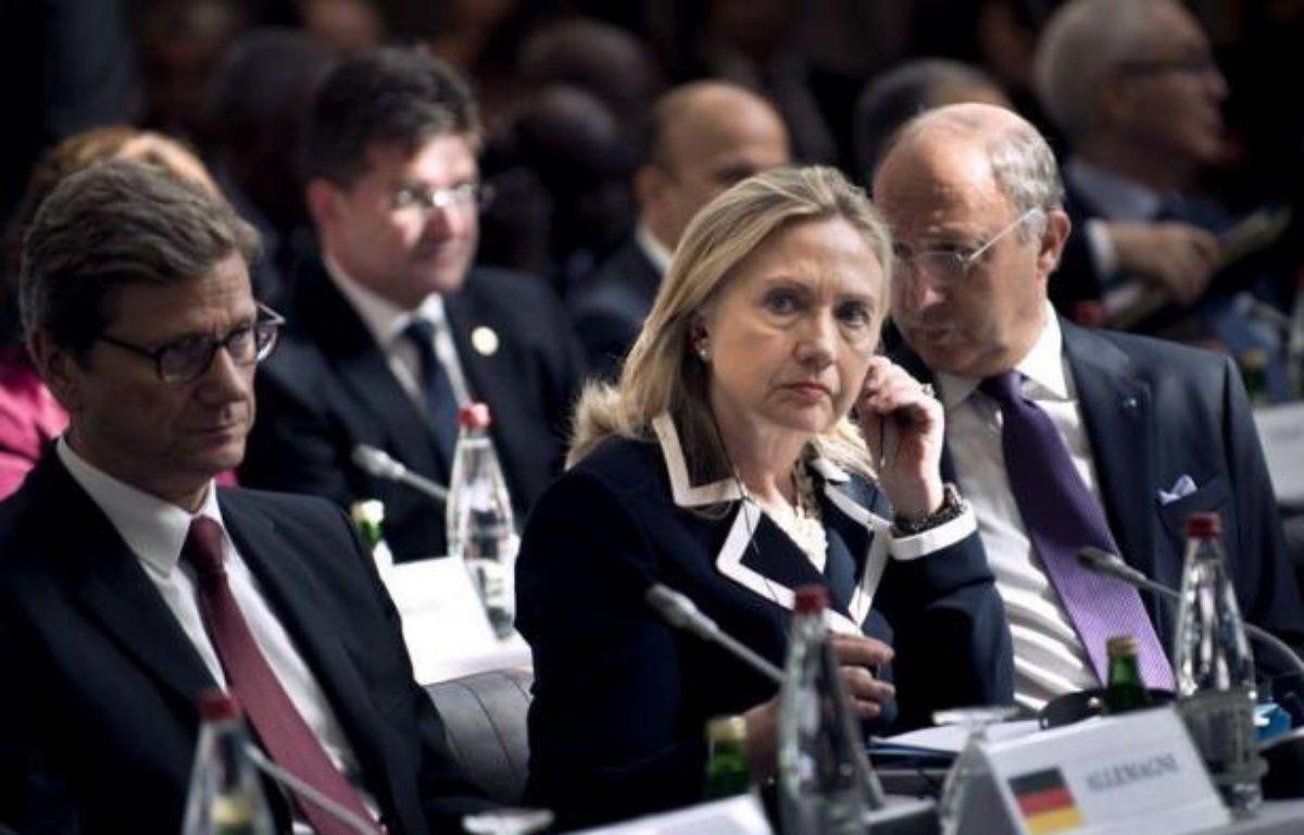 """""""Il est tout à fait nécessaire de saisir à nouveau le Conseil de sécurité et d'exiger une mise place du plan de Genève auquel Russie et Chine ont souscrit"""", a déclaré la secrétaire d'Etat américaine Hillary Clinton. – Brendan Smialowski afp.com"""