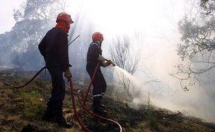 Illustration d'un incendie en Corse.