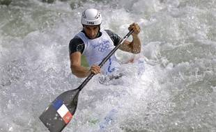 Le double champion olympique et triple champion du monde de Canoe Tony Estanguet