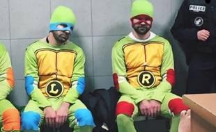 Les Tortues Ninjas en GAV.