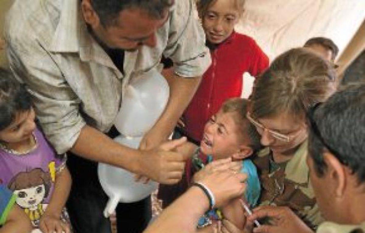 Près de 6000 enfants ont été vaccinés par les soldats français à Za'atari. –  Alexandre  GELEBART / 20 MINUTES