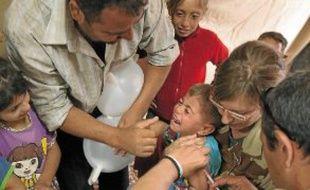 Près de 6000 enfants ont été vaccinés par les soldats français à Za'atari.