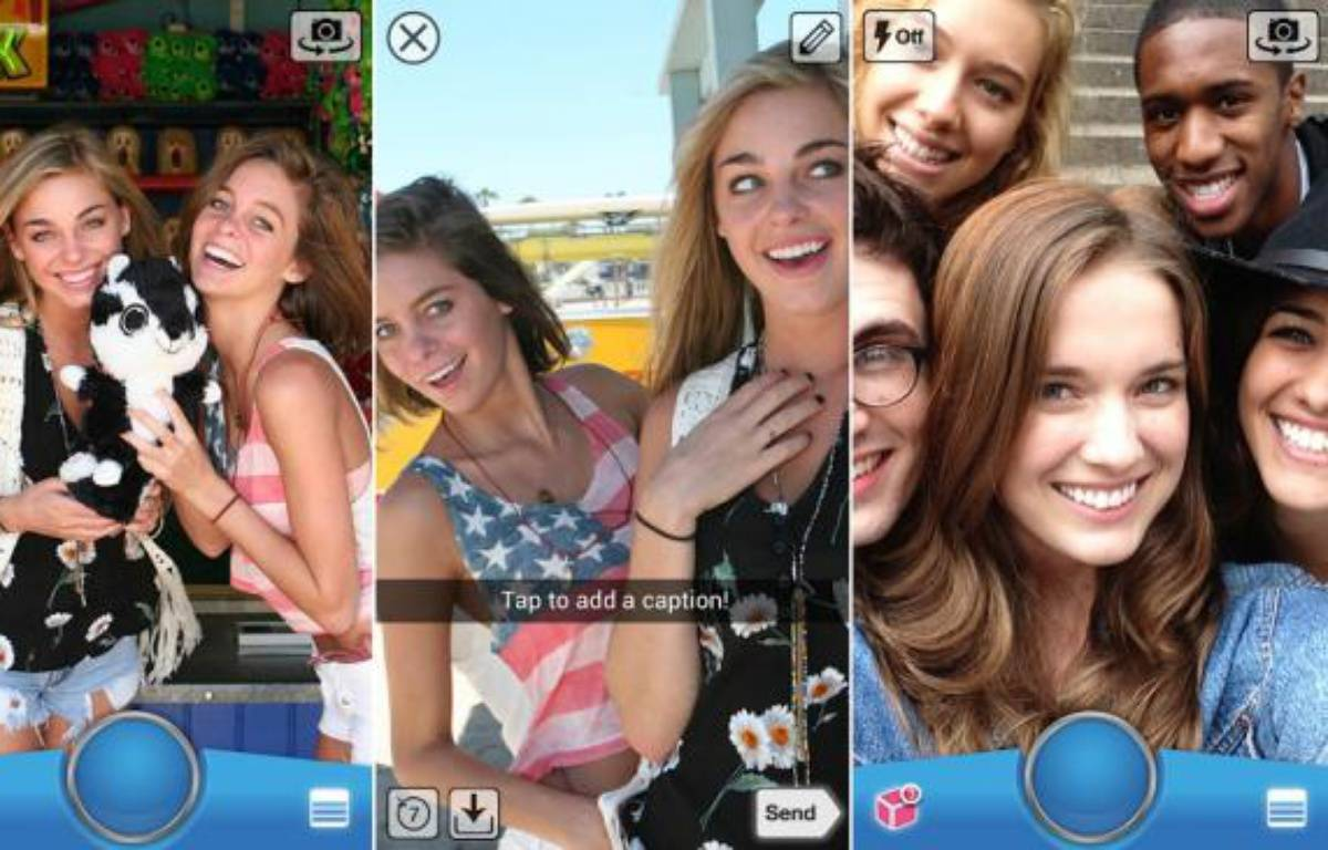 SnapChat, une app de partage éphémère de photos, fait fureur chez les ados. – DR