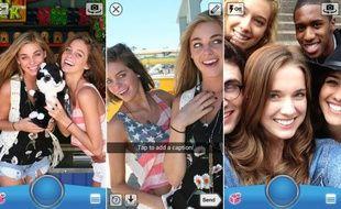 SnapChat, une app de partage éphémère de photos, fait fureur chez les ados.