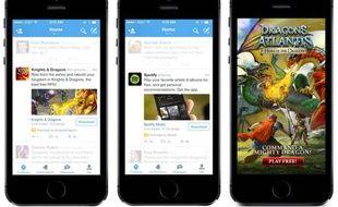 Twitter propose désormais des publicités pour installer des apps.