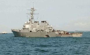 Le destroyer américain John S. McCain est entré en collision avec un pétrolier lundi 21 août 2017.