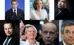 Les 7 candidats à la primaire de la droite et du centre.