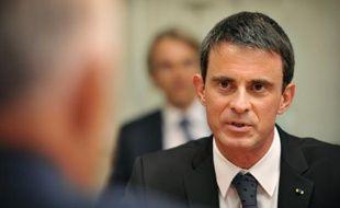 Le Premier ministre Manuel Valls le 2 mai 2016 à Canberra
