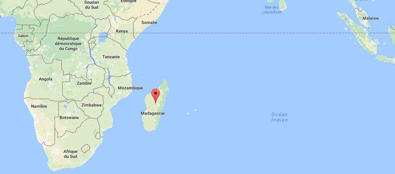 Madagascar - google maps