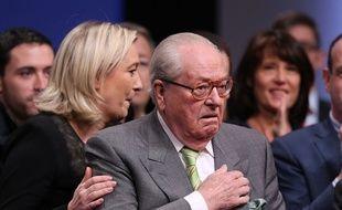 Marine et Jean-Marie Le Pen à Lyon en novembre 2014.