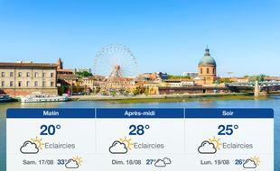 Météo Toulouse: Prévisions du vendredi 16 août 2019