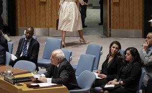 Nikki Haley, l'ambassadrice des Etats-Unis à l'ONU, a quitté le Conseil de sécurité avant que le représentant palestinien ne s'exprime
