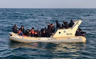 Des migrants secourus dans la Manche (photo d'illustration)