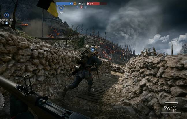 Plongée aux coeurs des tranchées dans des décors inspirés par les véritables champs de bataille.