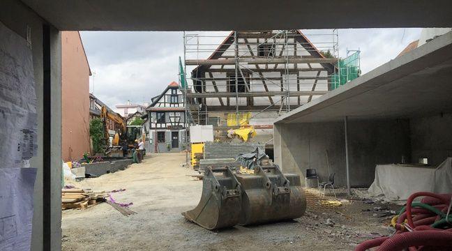 Le chantier du marché couvert de Schiltigheim. Le 25 avril 2017. – G. Varela / 20 Minutes