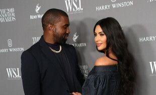 Les époux Kanye West et Kim Kardashian