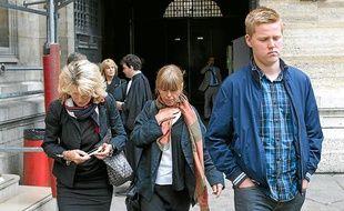 Le 13 septembre 2012, le frère et la mère de la victime, Samuel Zetterberg et Asa Palmqvist, au procès de Bruno Cholet, accusé du meurtre de Susanna Zetterberg.