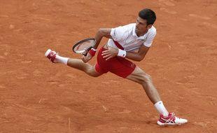 Novak Djokovic à Roland Garros, le 28 mai 2018.