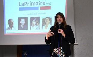 Charlotte Marchandise le 8 décembre 2016 lors d'une réunion à Strasbourg.