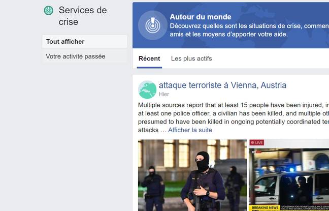 Facebook active son dispositif de crise Safety Check après l'attentat de Vienne