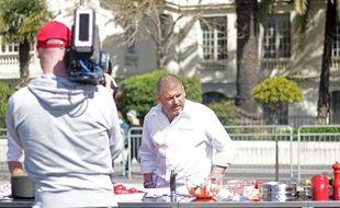 Le chef Christian Etchebest, juré de MasterChef, lundi dans le Vieux-Nice