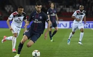 Javier Pastore contre Guingamp, le 9 avril 2017.