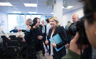 Marine Le Pen, présidente du FN, le 6 février 2015 à Nanterre.