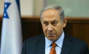Le premier ministre israélien Benjamin Netanyahu dans son bureau, le 28 juin 2015 à Jerusalem