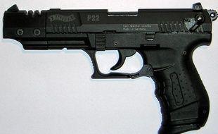 Un pistolet 22 long rifle (illustration).