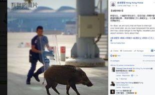 Capture d'écran compte Facebook 香港警察 Hong Kong Police 20 décembre 2016