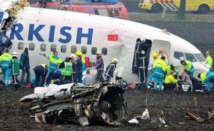 Un avion de ligne turc s'est écrasé à Amsterdam le 25 février 2009.